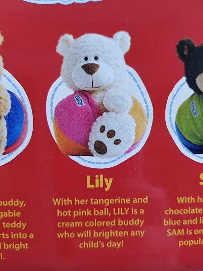 Amazon.com: Buddy Balls Plush Bear Magically Converts from a Pet to Plush Ball (Off-White): Toys & Games