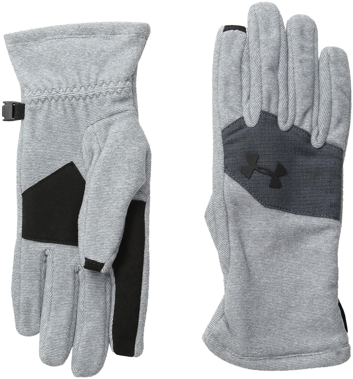 Under ArmourユニセックスColdGear Infraredフリース手袋 B018GQ2PLG  スチール/ブラック Small