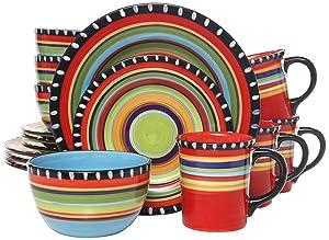 Gibson Elite Pueblo Springs 16-Piece Dinnerware set, Multicolor