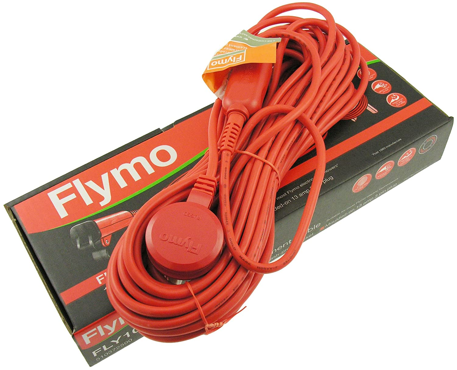 Flymo FLY102 15 m Replacement Cable to Suit Some Flymo Electric Lawnmowers - Orange Husqvarna FL5103725-90/8