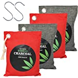 Natural Bamboo Odor Eliminator Home Air Purifying Charcoal Bags, Nature Activated Fresh Purifiers Odor Absorber Bag Pack…