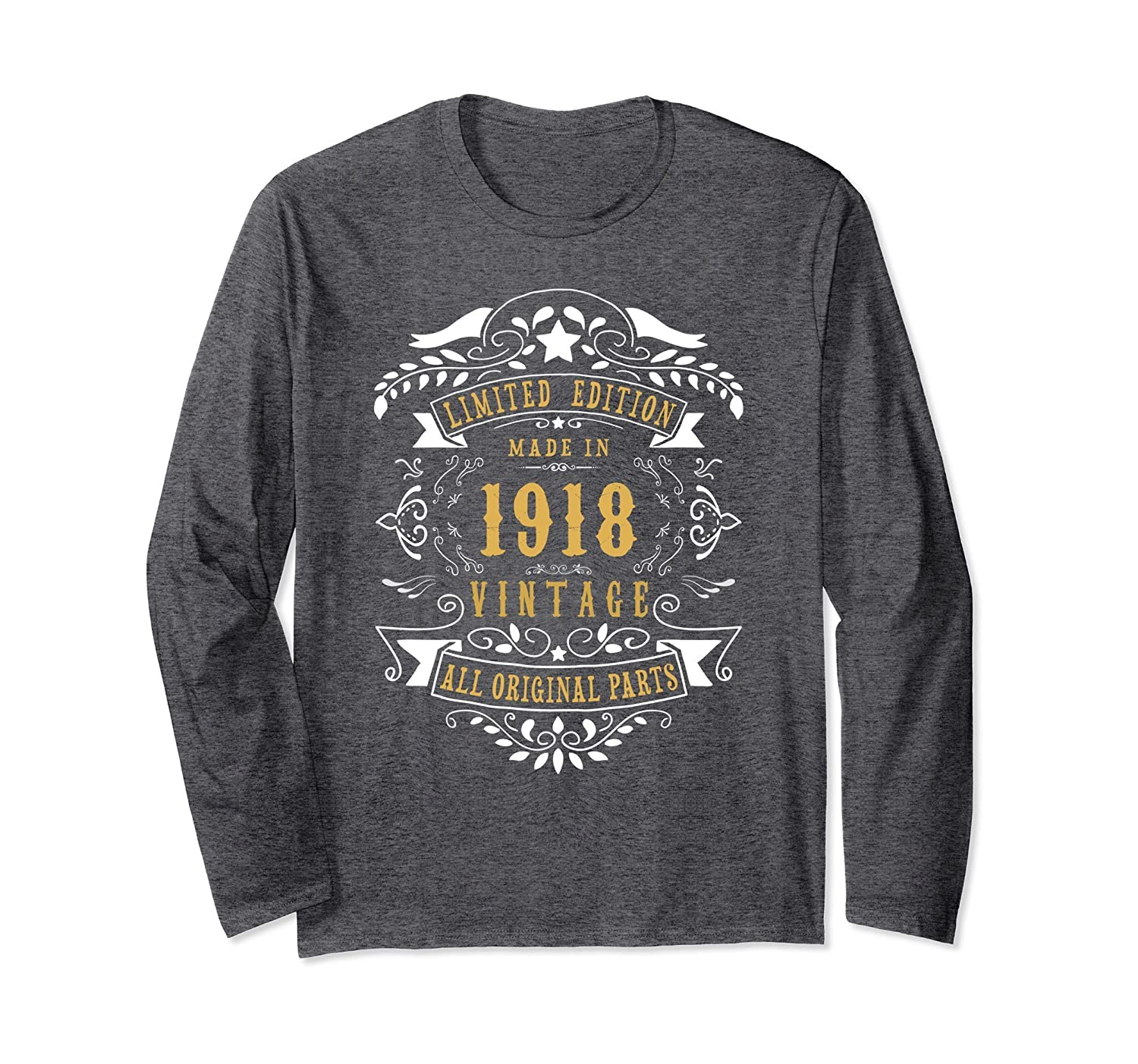 100 year Old Made 1918 100th Birthday Gift Long Sleeve Shirt-Awarplus