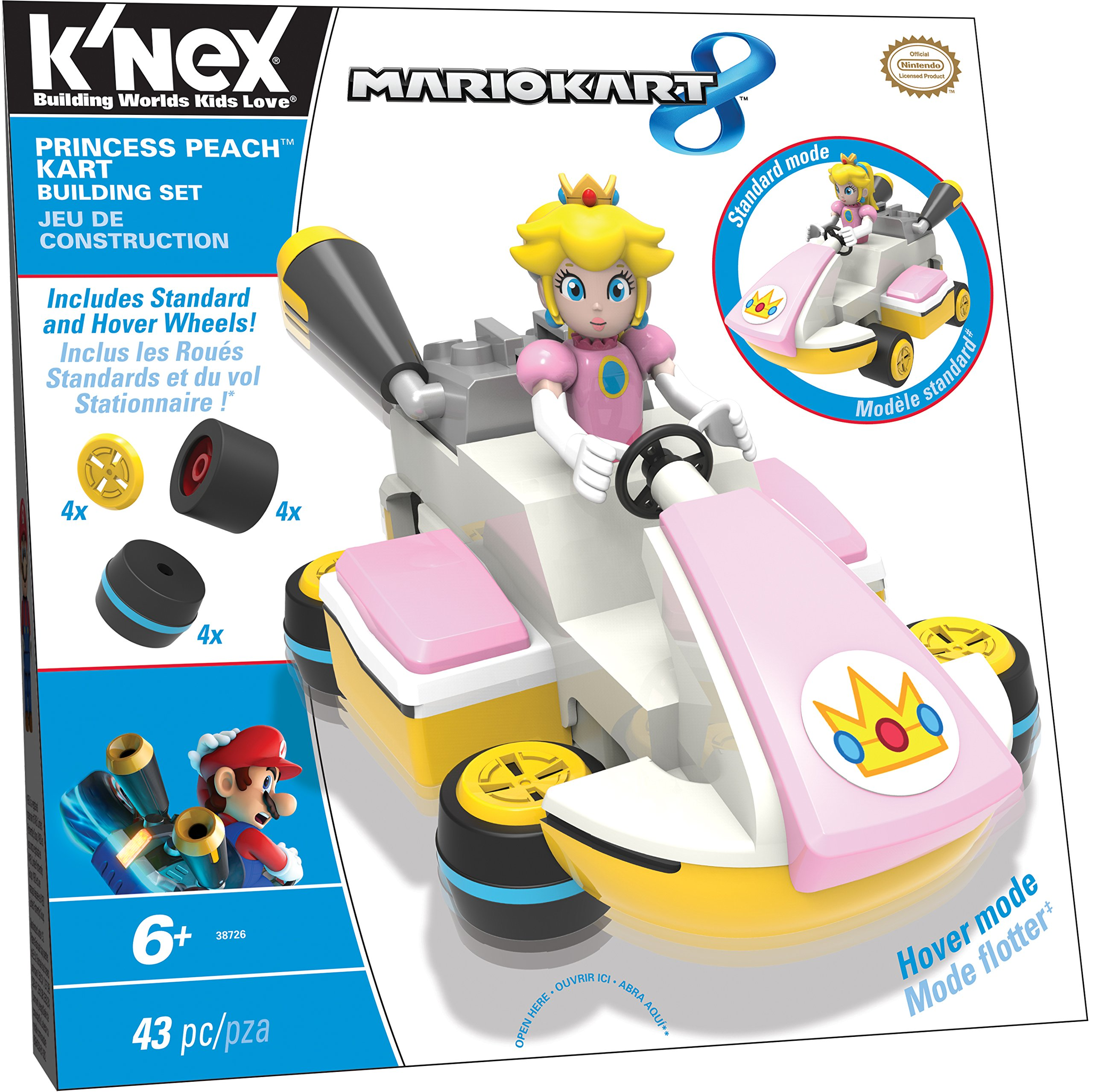 K'NEX Mario Kart 8 - Princess Peach Kart Building Set