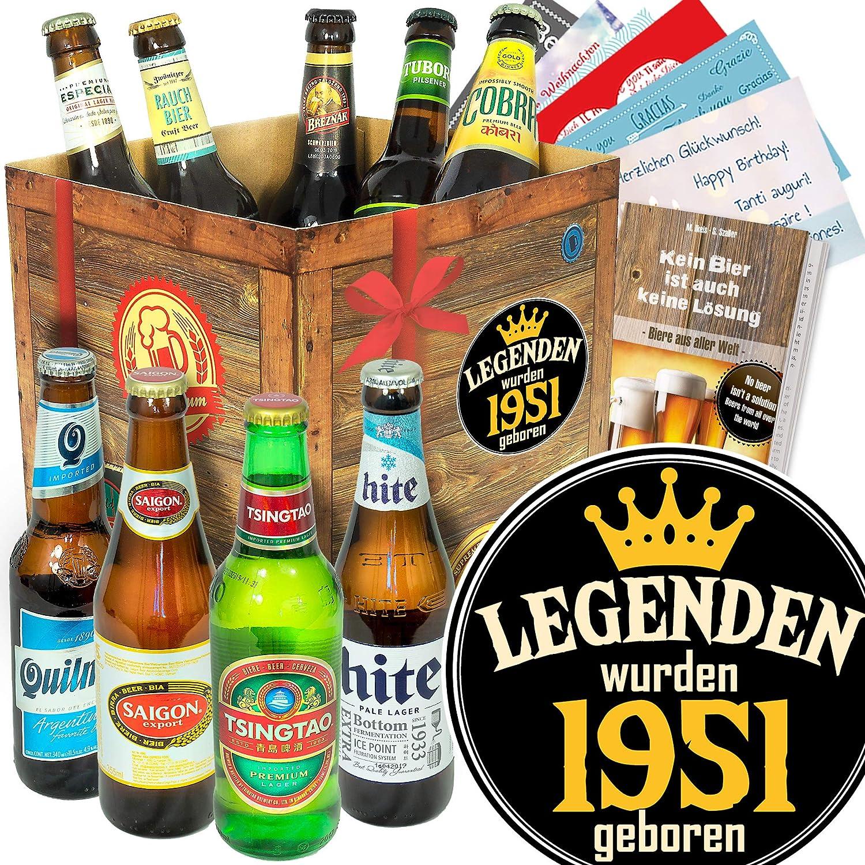 Legenden 1951 ++ Bierbox mit Bieren der Welt ++ Geburtstagsgeschenke Freund Ostprodukte-Versand.de