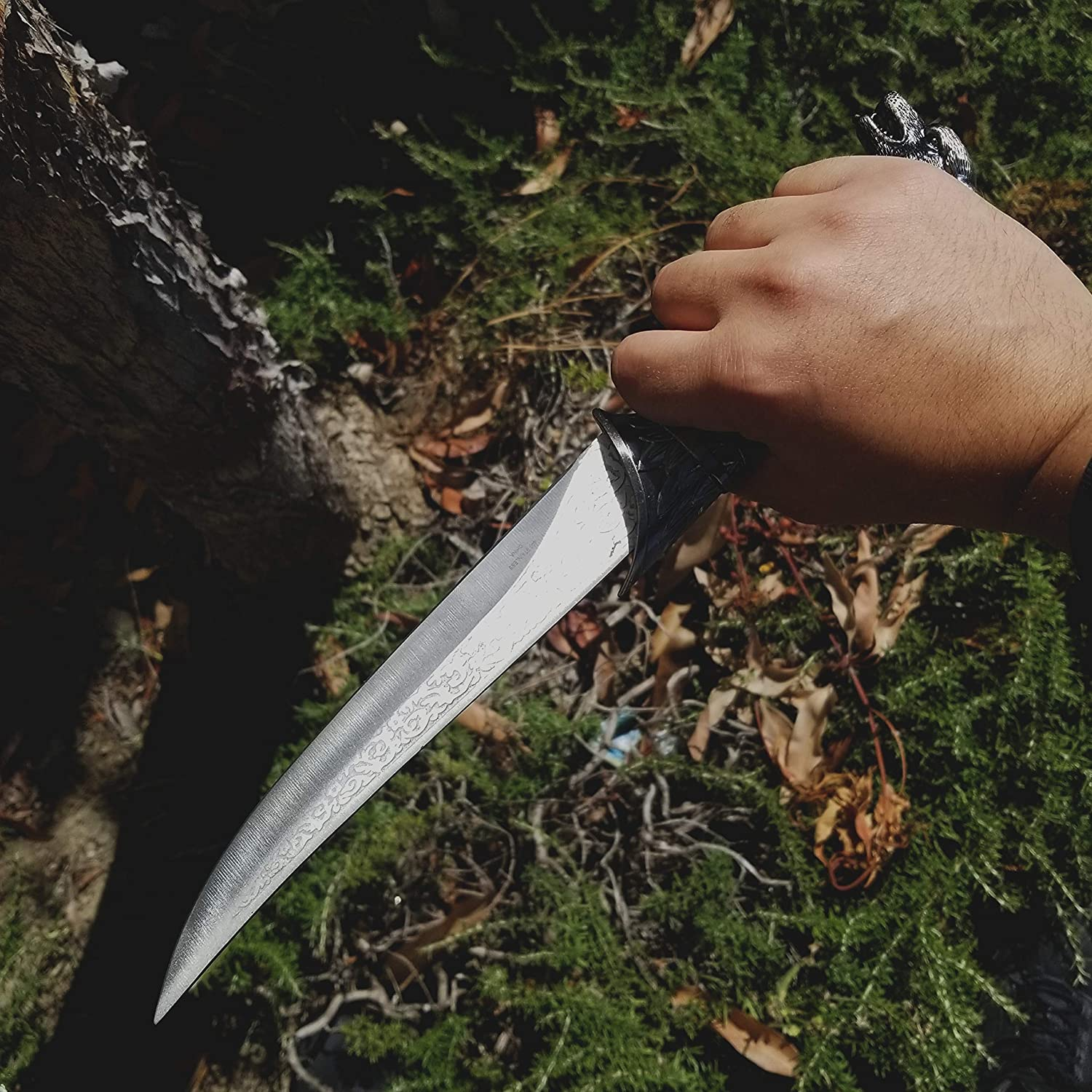 for Collection Gift 1sword Fantasy Collection: Wild Anime Fixed Blade Dagger with Etched Blade Camping