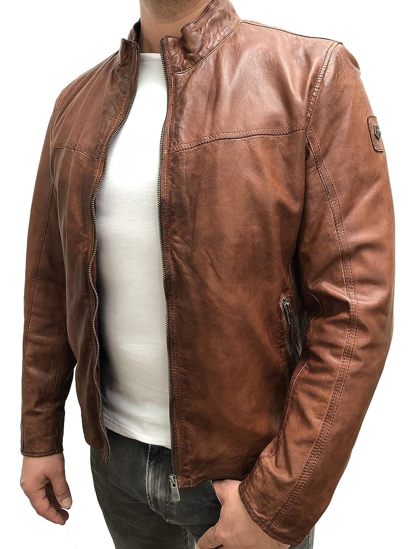 MILESTONE Blouson Veste en cuir Homme marron 52