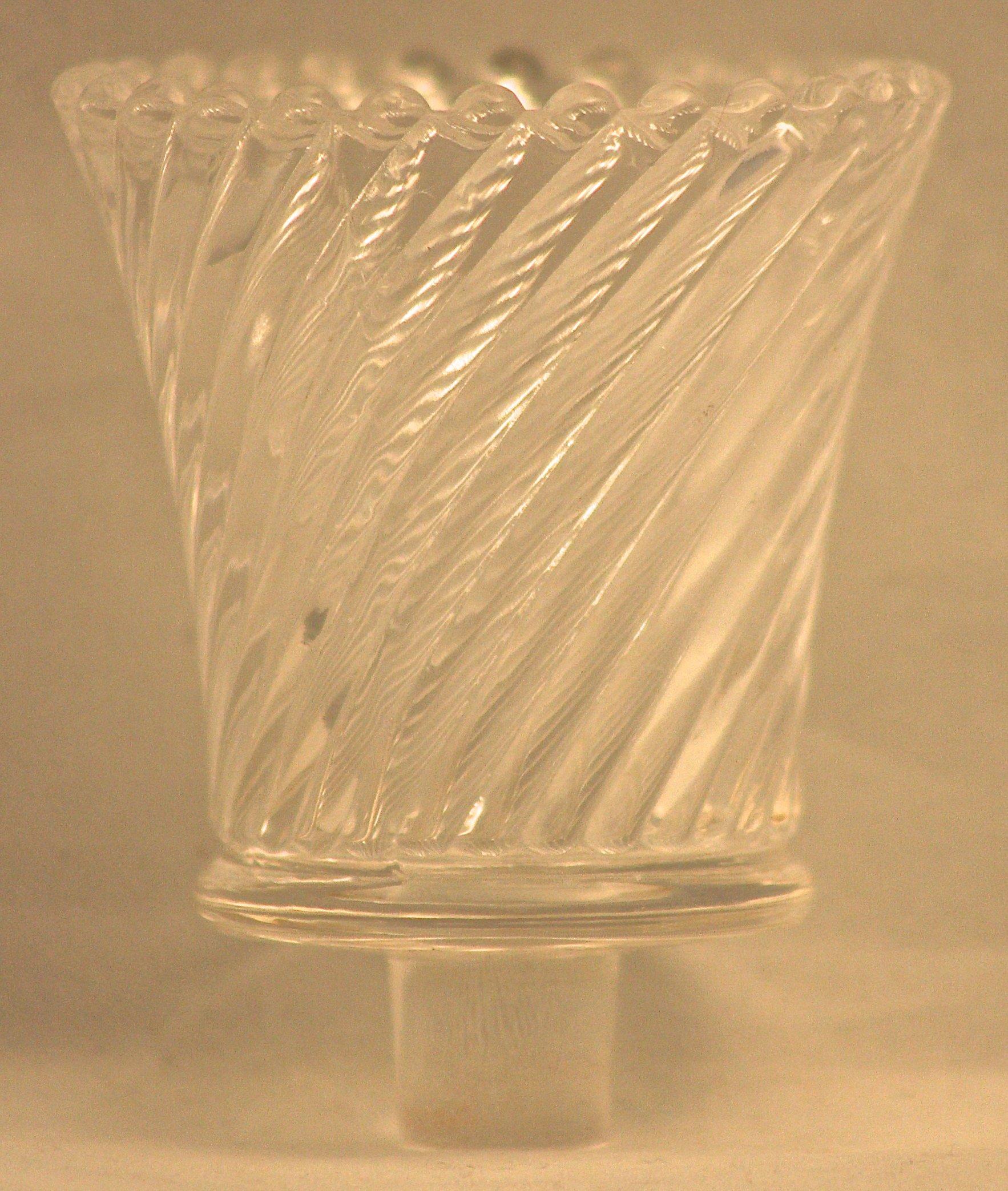 Pegged Swirl Votive Glass, Clear
