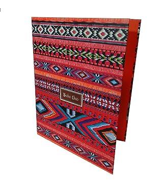 Carpeta Archivador KATACRAK Boho Chic Naranja, Folio 4 Anillas 35 mm.: Amazon.es: Juguetes y juegos