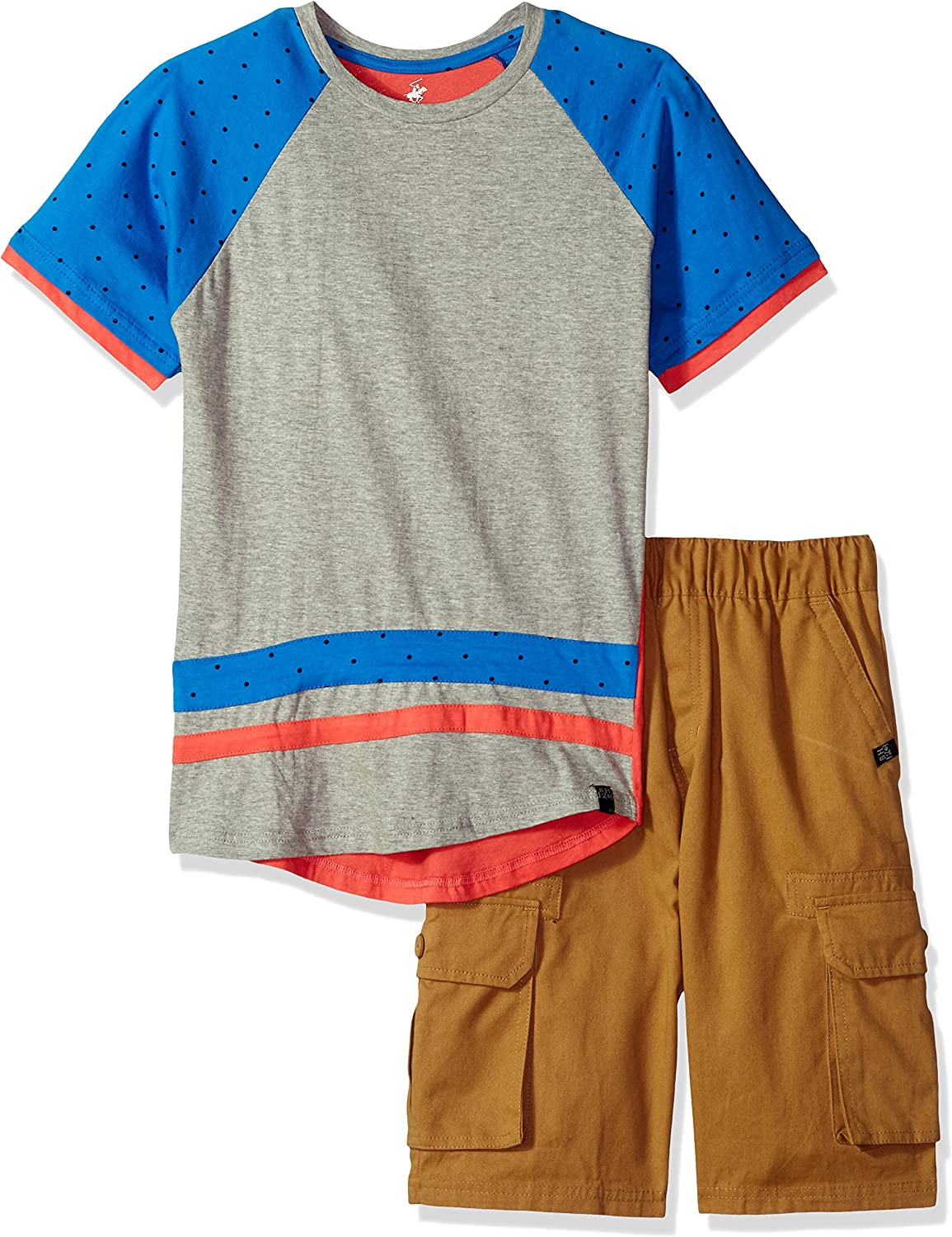 Beverly Hills Polo Club Boys Sleeve Top and Short Set
