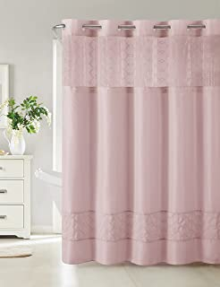 Hookless RBH40MY094 Downtown Soho Shower Curtain With PEVA Liner