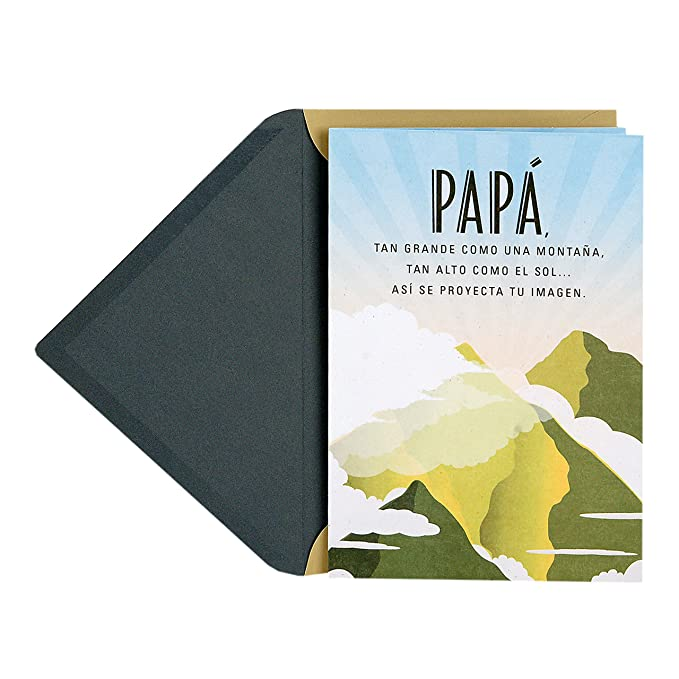 Hallmark VIDA Spanish Pop Up Fathers Day Card for Dad / Pop Up Tarjeta del Día del Padre para Papá (Fuente de Amor e Integridad)