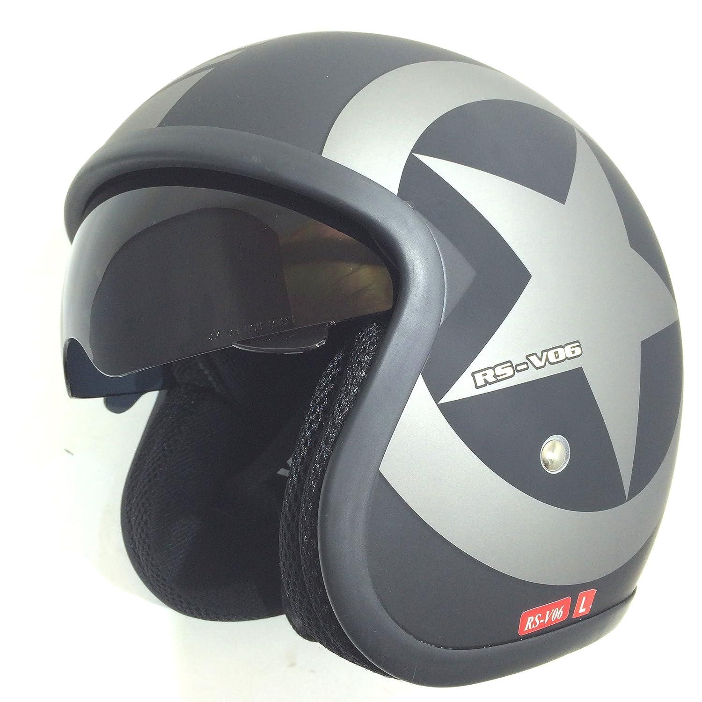 Viper Helmets Open Face Motorbike Helmet RSV06 61-62 cm black matt