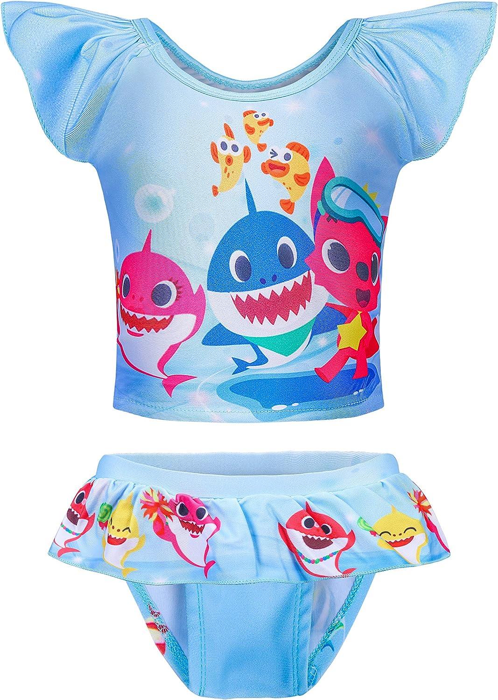 LMM Baby Girls 2PCS Tankini Bathing Suits Swimsuit Swimwear Swim Suit for Toddler