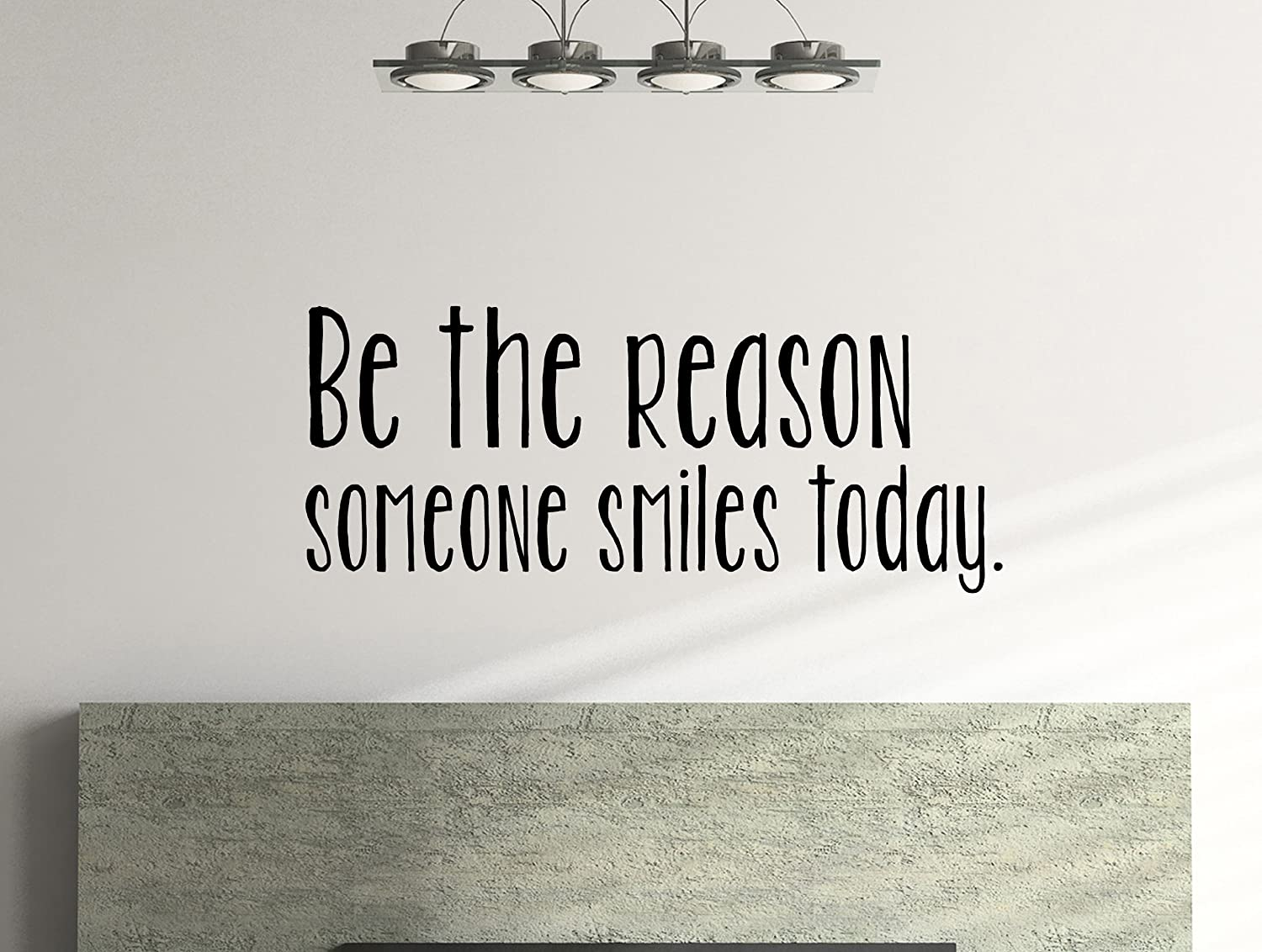 Amazon be the reason someone smiles today inspirational wall amazon be the reason someone smiles today inspirational wall decal 39 x 16 inches everything else amipublicfo Image collections