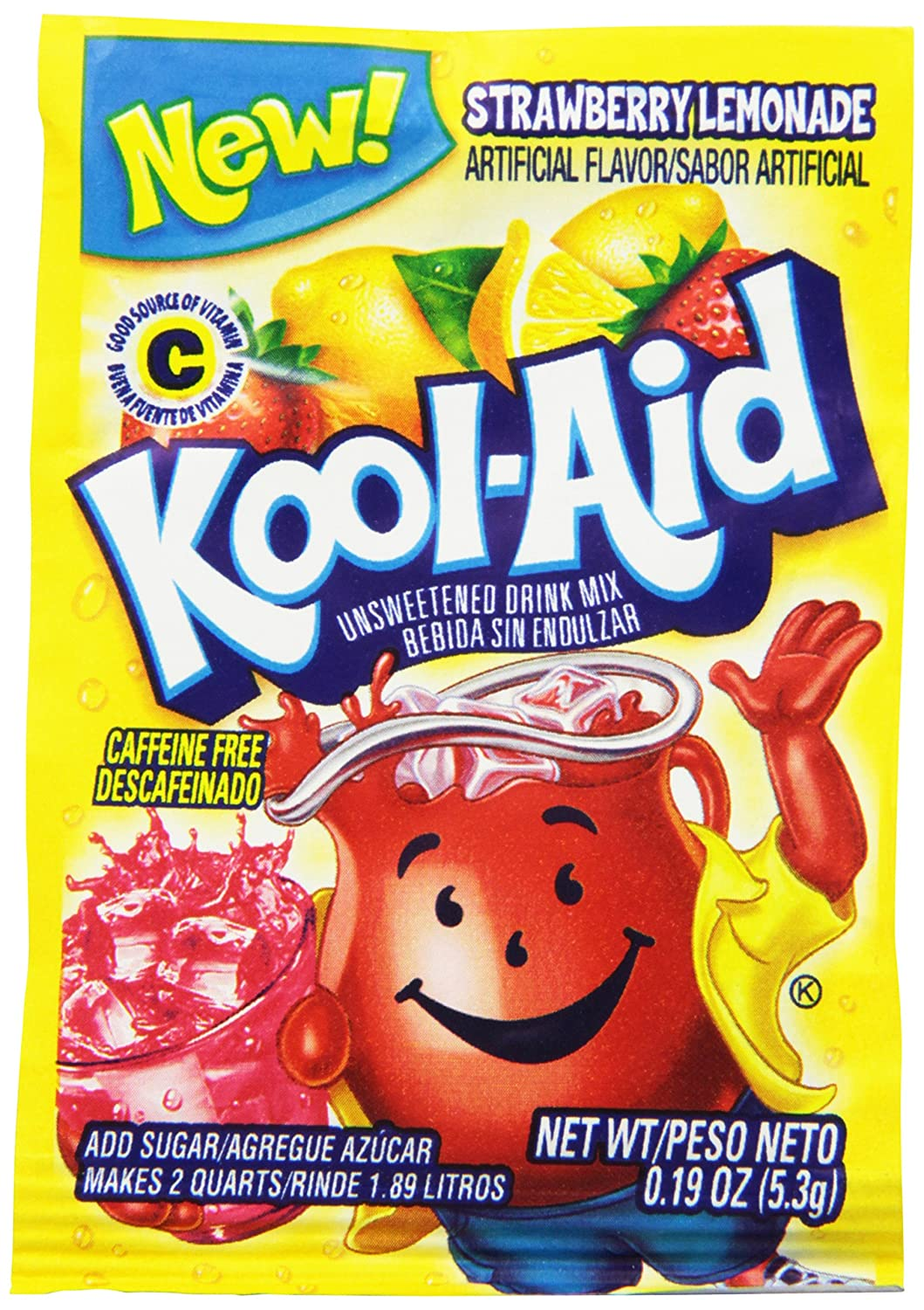 Amazon.com : Kool-Aid Twists Soarin Strawberry Lemonade Unsweetened Soft Drink Mix, 0.19-Ounce Packets (Pack of 96) : Powdered Soft Drink Mixes : Grocery ...