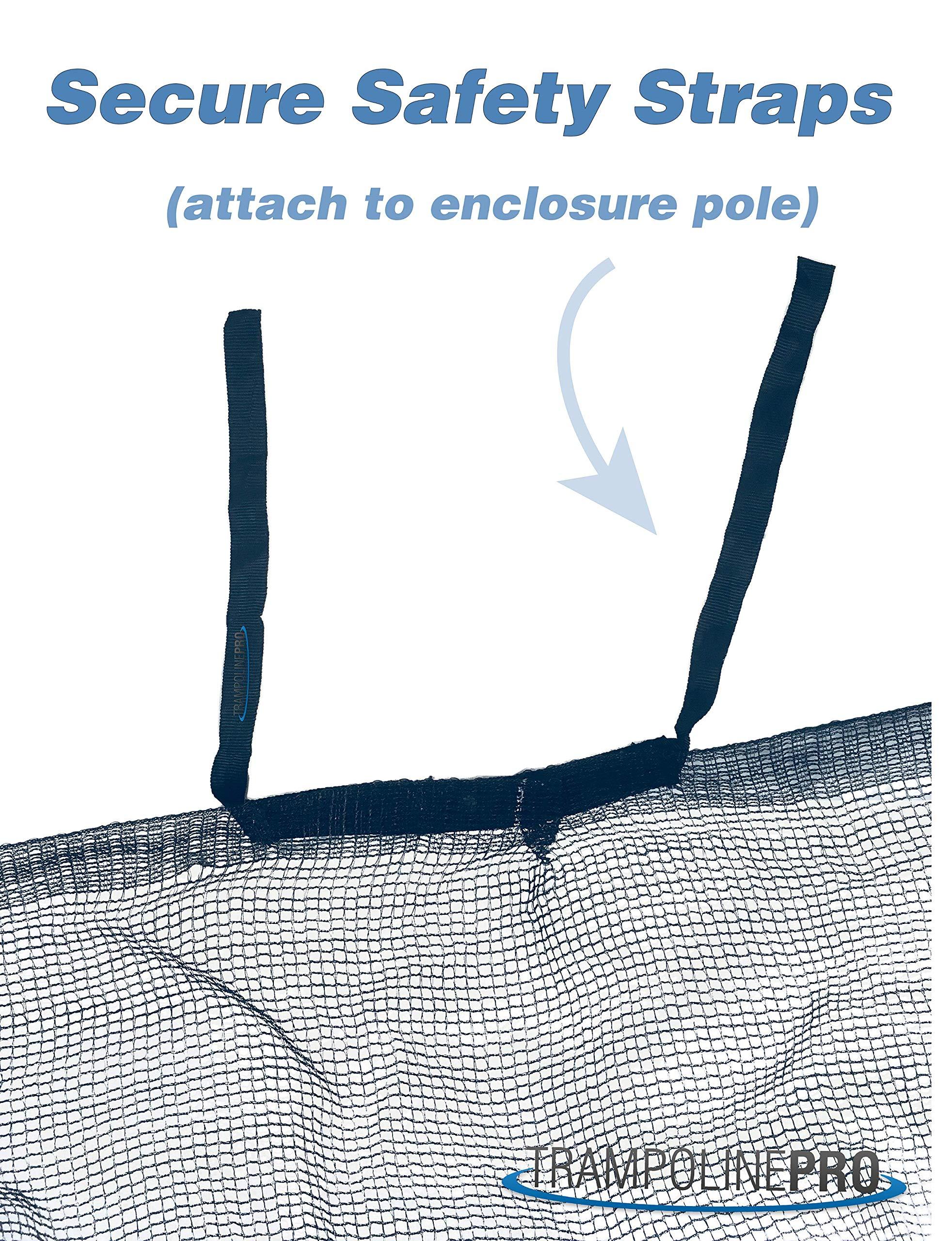 14' Universal Trampoline Enclosure Safety Net by Trampoline Pro (Image #3)