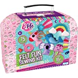 Felt Creative Arts and Craft Sewing Supplies Kit for Boys and Girl Ages 8+ Make Your Own 15+ DIY Characters - Educational Han