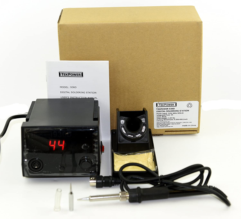 Tekpower Tp936d 40 Watts Digital Soldering Station Adjustable Weller Wlc 100 Temperature Controlled Iron