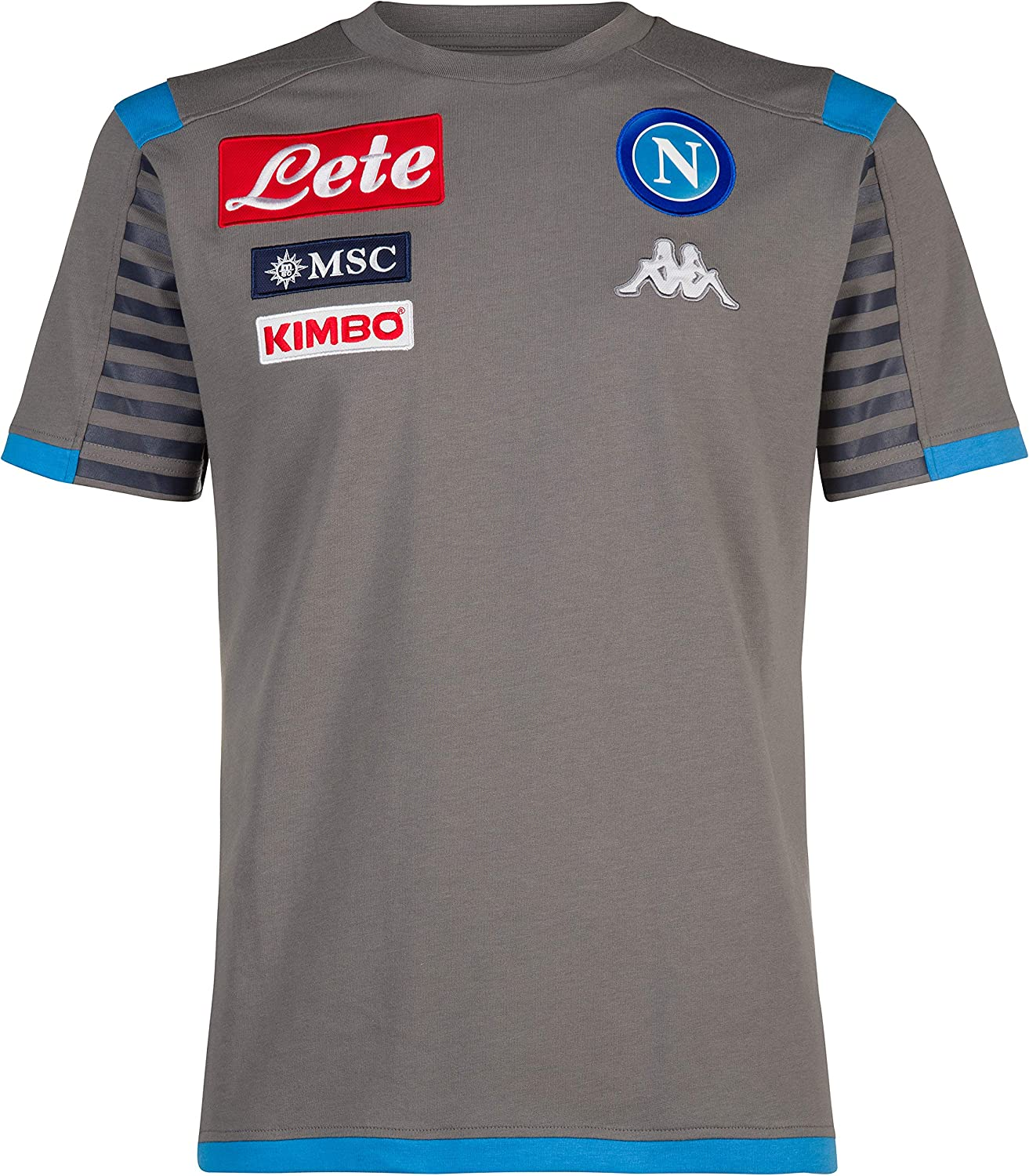 L Grey Italian Serie A SSC NAPOLI Mens Full Zip Representation Sweatshirt Blue