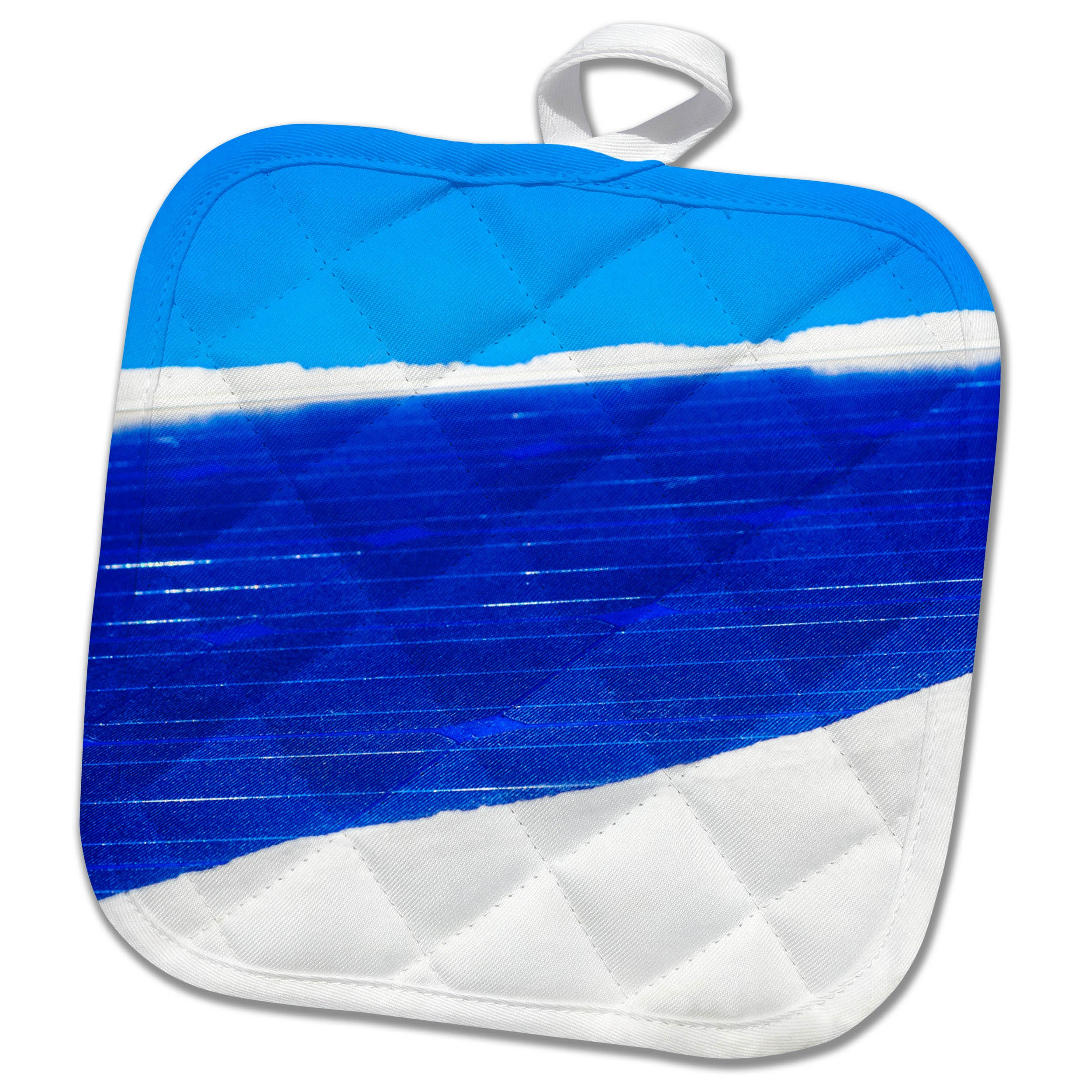 3dRose Alexis Photography - Seasons Winter - Snow covered solar power panel, blue sky - 8x8 Potholder (phl_265636_1)