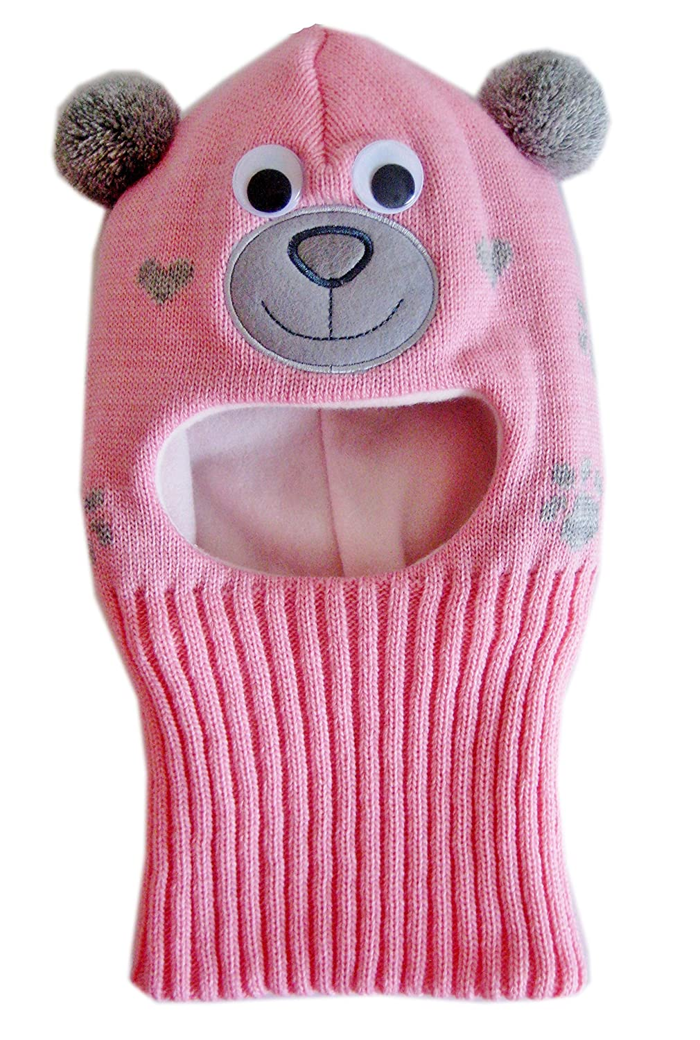 Frost Hats Warm Fleece Lined Toddler Balaclava M-BAL-BEARG M-BAL-BEARG-PNK