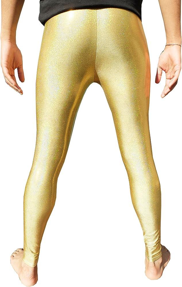1993e10f8a445c Holographic/Glitter Meggings - Gold/Silver/Black/Merman - Men's Leggings  Festival