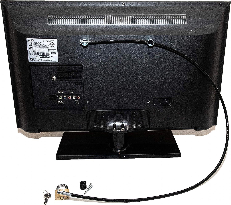 Flat Screen TV Lock Anti-Theft Cable Security Kit