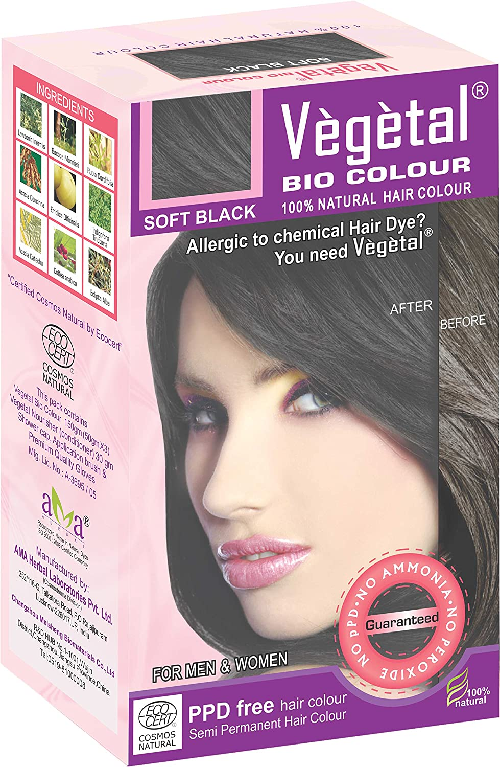 Buy Vegetal Bio Colour Soft Black 50 Gm X 3 Online At Low Prices
