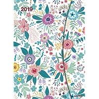 Flowers 2019 Terminkalender-Wochenplaner