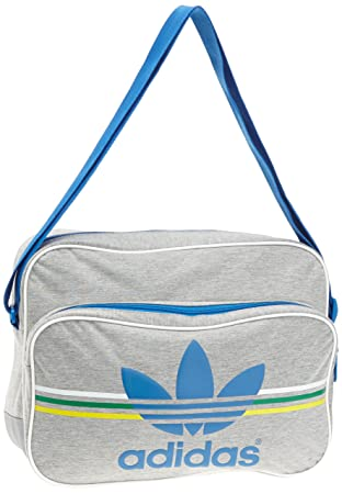 adidas Airliner Jersey Shoulder Bag - Medium Grey Heather Vivid Green Vivid  Yellow Bluebird, 38 x 28  Amazon.co.uk  Sports   Outdoors f381cf8f9b