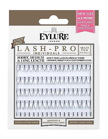cd3132f464b Eylure Lash Pro Semi Permanent Eyelash, Knot Free Individuals Multipack