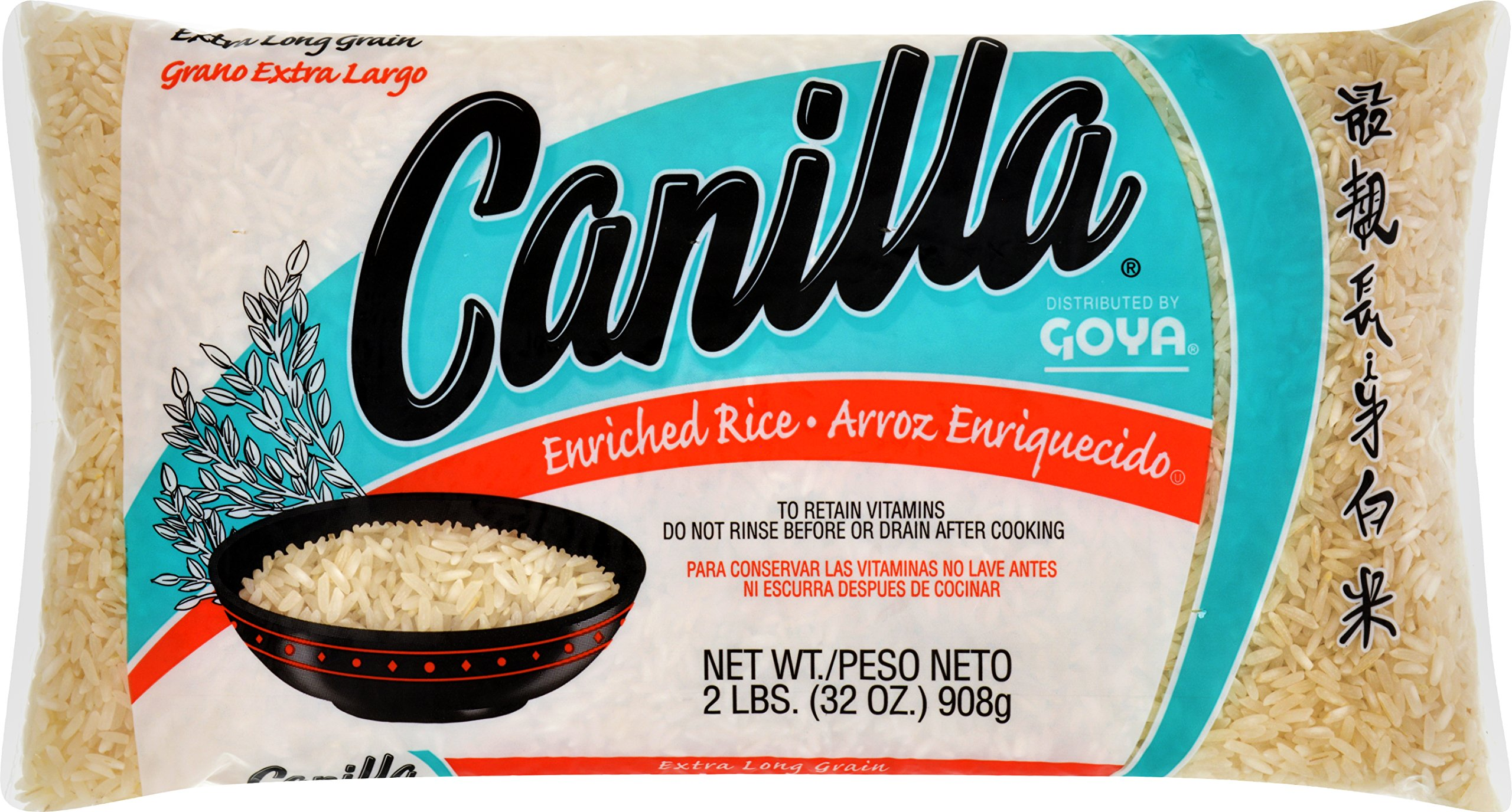 Goya Foods Canilla Long Grain Rice, 2 Pound (Pack of 30) by Canilla
