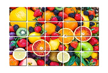 Buy Impression Wall Decor Different Different Fruits Kitchen Sticker Wall Sticker For Living Room Bedroom Office Home Hall Decorative Stickers Online At Low Prices In India Amazon In