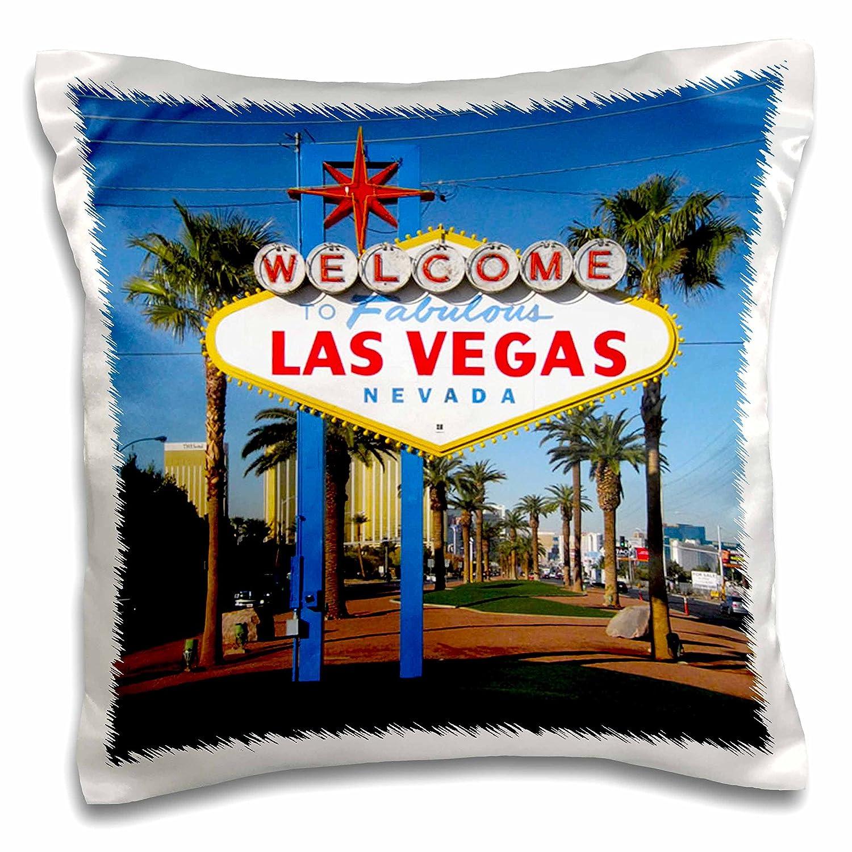 16 x 16 NV Pillow Case 3dRose pc/_156501/_1 Welcome to Fabulous Las Vegas