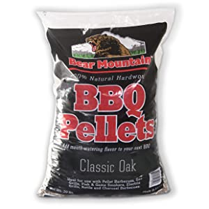 Bear Mountain BBQ 100% All-Natural Hardwood Pellets - Oak (20 lb. Bag) Perfect for Pellet Smokers, or Any Outdoor Grill | Rich, Smoky Wood-Fired Flavor