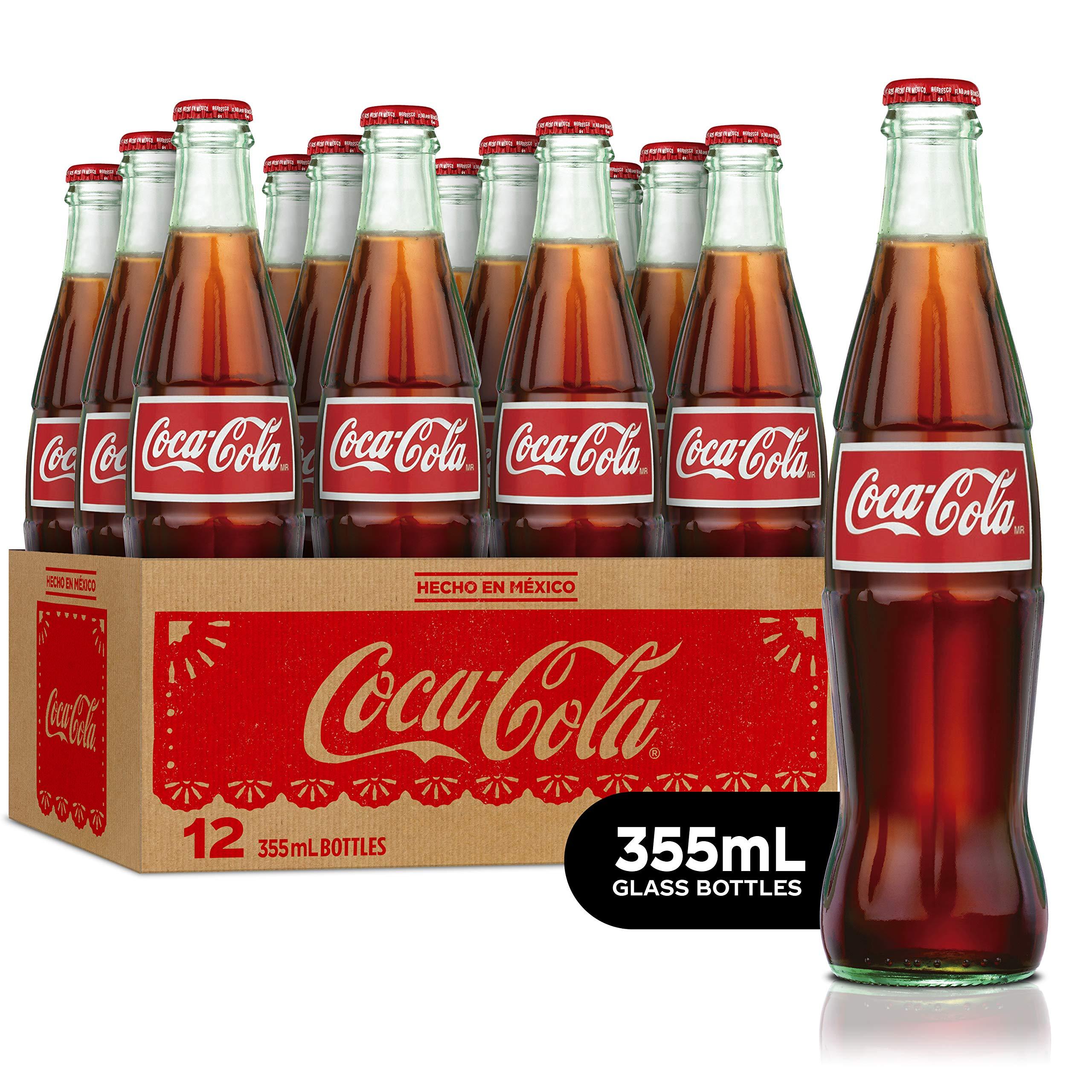 Coca-Cola De Mexico Glass Bottles, 12 Fl Oz (Pack of 12)