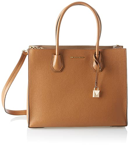 bbf02e9996b0 Amazon.com: Michael Kors Womens Mercer Tote, Brown (Acorn), 12.7x21.6x23.2  cm (W x H x L): Shoes