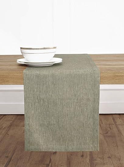 Solino Home 100% Pure Linen Table Runner U2013 14 X 36 Inch, Tesoro Runner