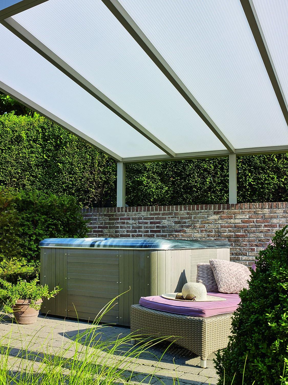 Techo para terrazas y verandas Climalux, de aluminio, 500 x ...