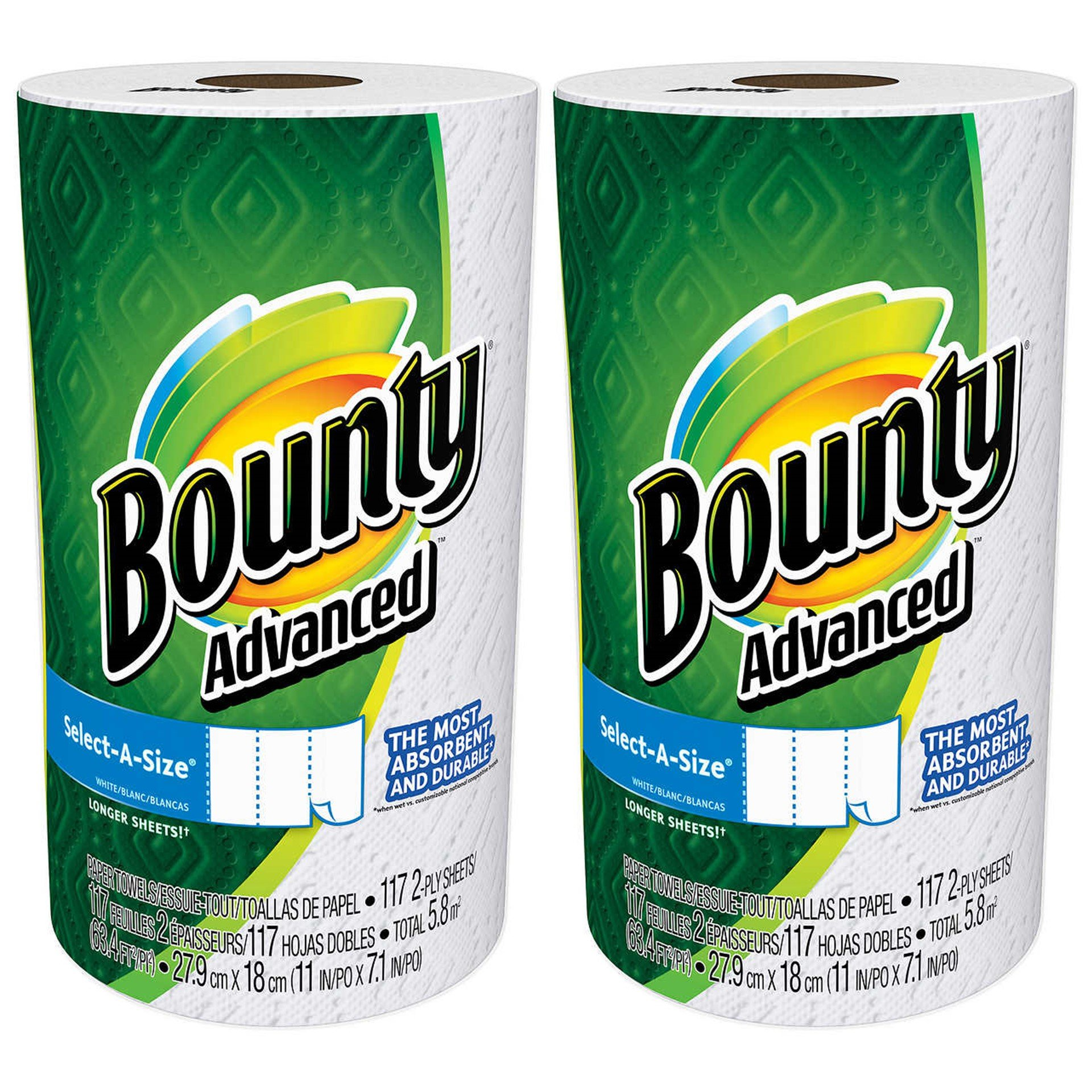 Bounty Advanced Select-A-Size, 2 x More Absorbent Paper Towels Roll,