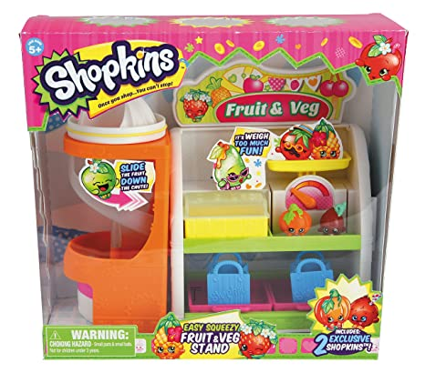 amazon com shopkins fruit vegetable playset toys games