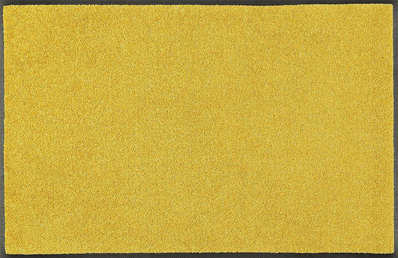 Wash+dry Trend-Colour Honey Gold Fußmatte, Acryl, gelb, 60 x 180 x 0.7 cm