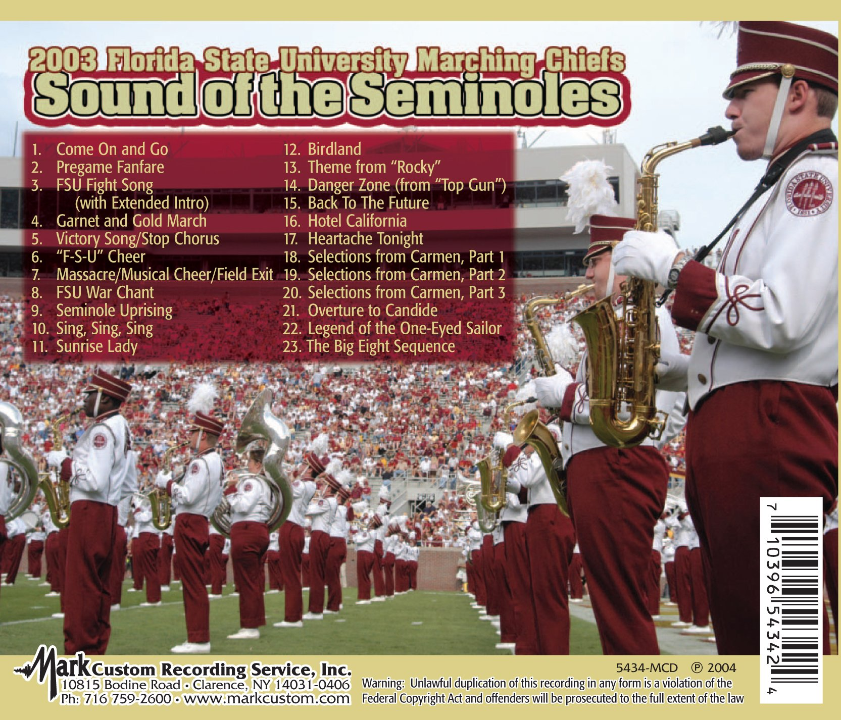 Sounds of the Seminoles 2003 by Football Fanatics