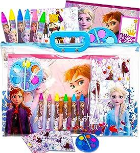 Juego de 2 libros para colorear y actividades de Frozen