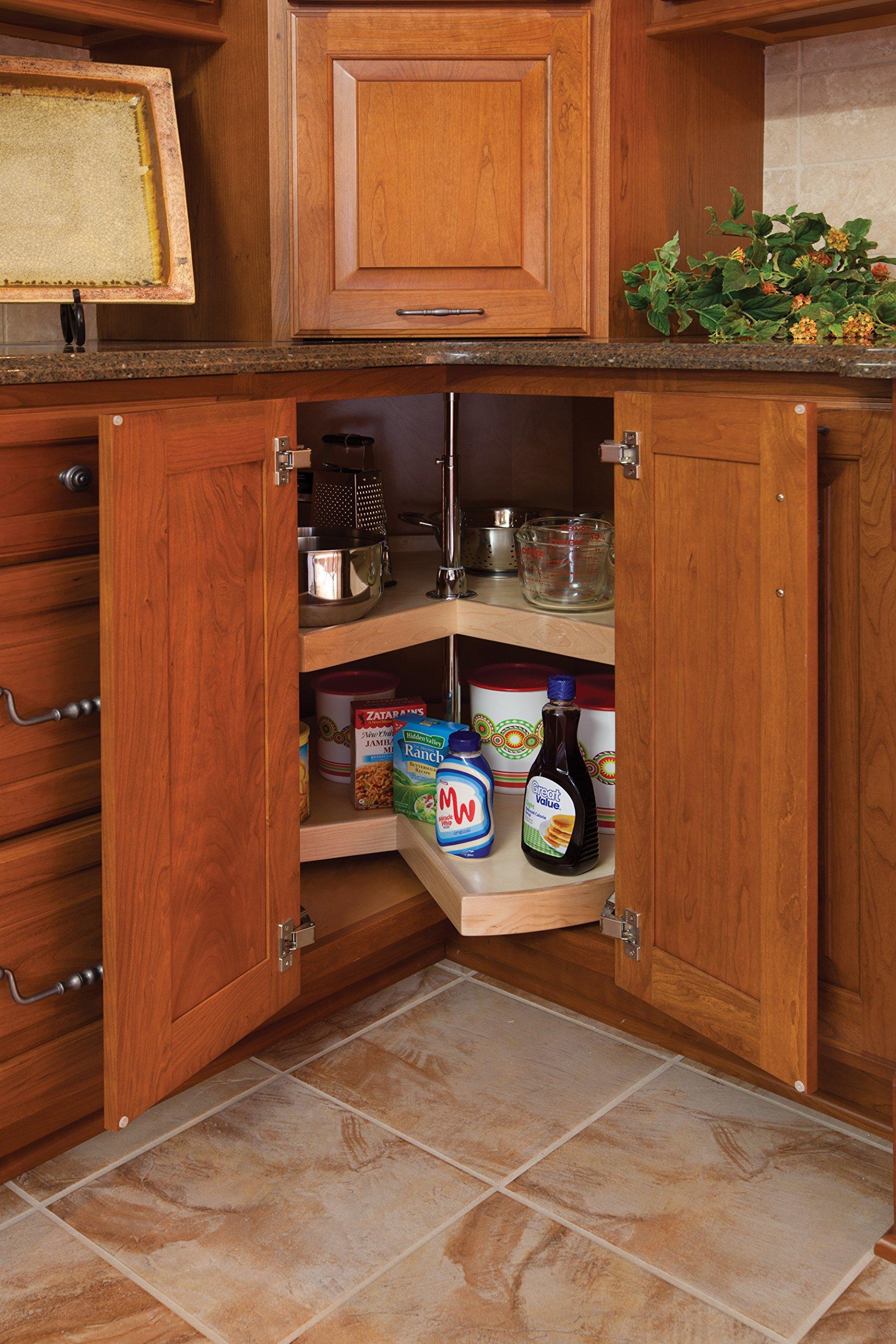 Lazy Susan Pie Cut 2 Shelves w/Hardware - 28'' Diameter