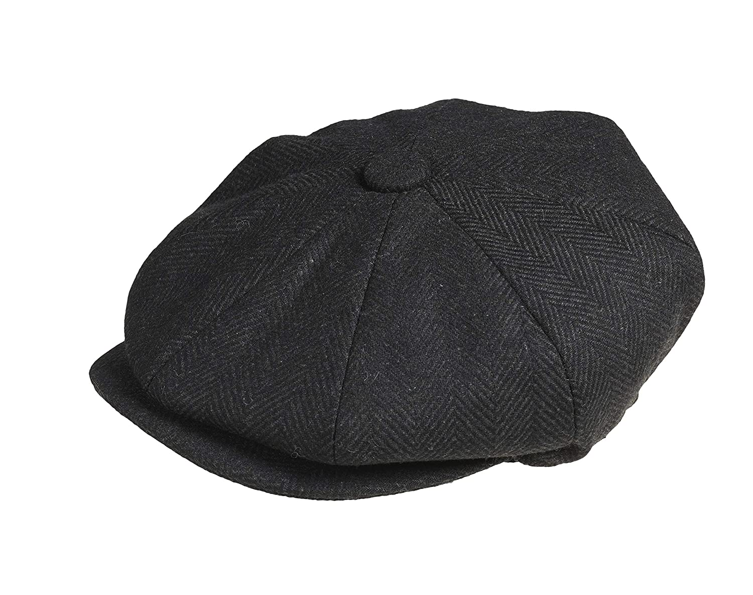 21d9ca5bc Peaky Blinders 'Newsboy' Style Flat Cap -Melton Wool Fabric Variations