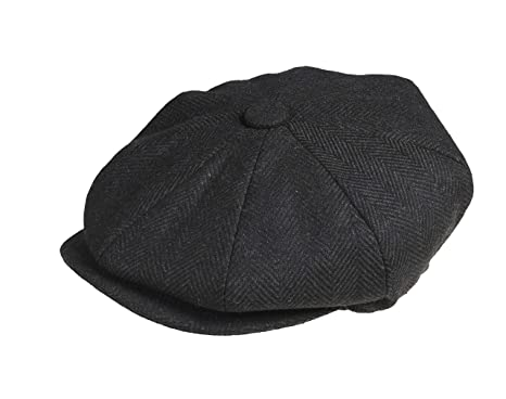 633302eaf Peaky Blinders Men 8 Piece 'Newsboy' Style Flat Cap Wool (Large ...