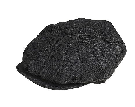 bda9b9ce Peaky Blinders 'Newsboy' Style Flat Cap -100% Wool: Amazon.co.uk ...