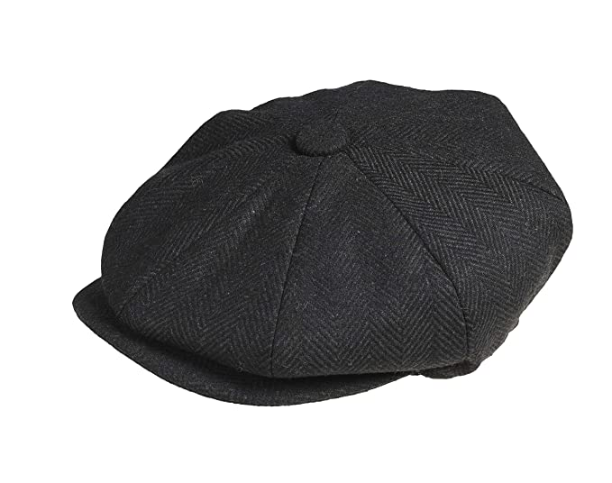 829fbf810f1 Peaky Blinders  Newsboy  Style Flat Cap -100% Wool  Amazon.co.uk ...