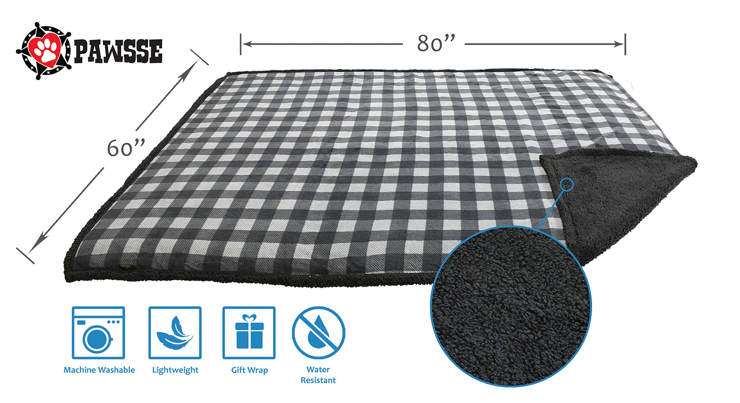 Pawsse Waterproof Dog Blanket,Furniture Sofa Couch Covers for Large Dogs Cats Puppy,Pet Cushion Mat for Bed Car Seat 80''x60'' by Pawsse (Image #3)